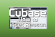 Cubase how to insert Reason