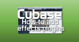How to add effects plugins in cubase