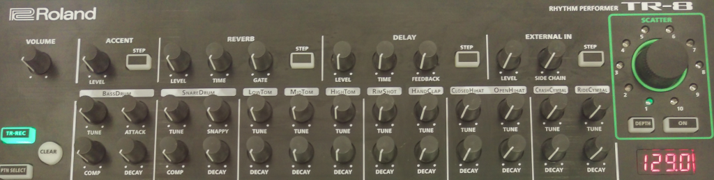 Roland TR-8 dials