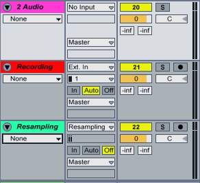 Ableton Tracks