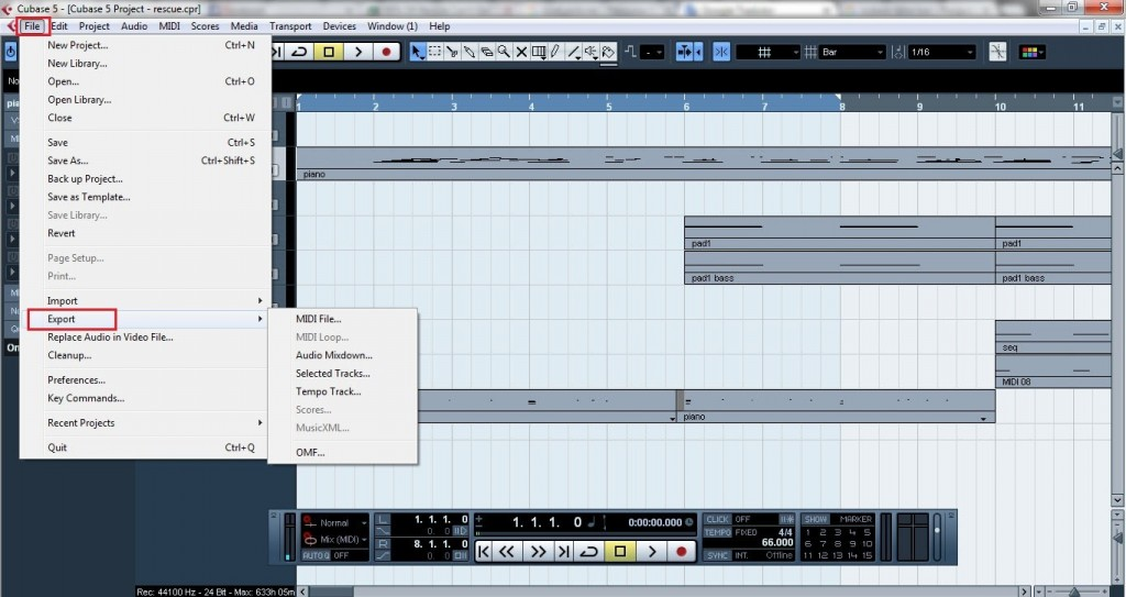 Cubase - How to export midi and VST instruments as audio files 4