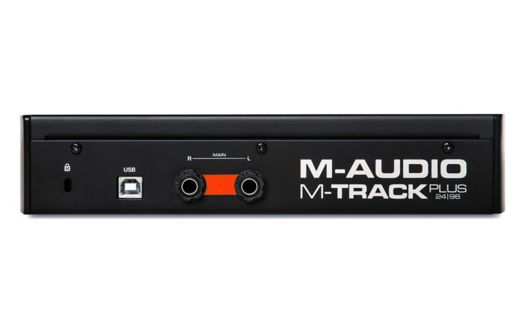 M-Audio M-Track Plus II rear
