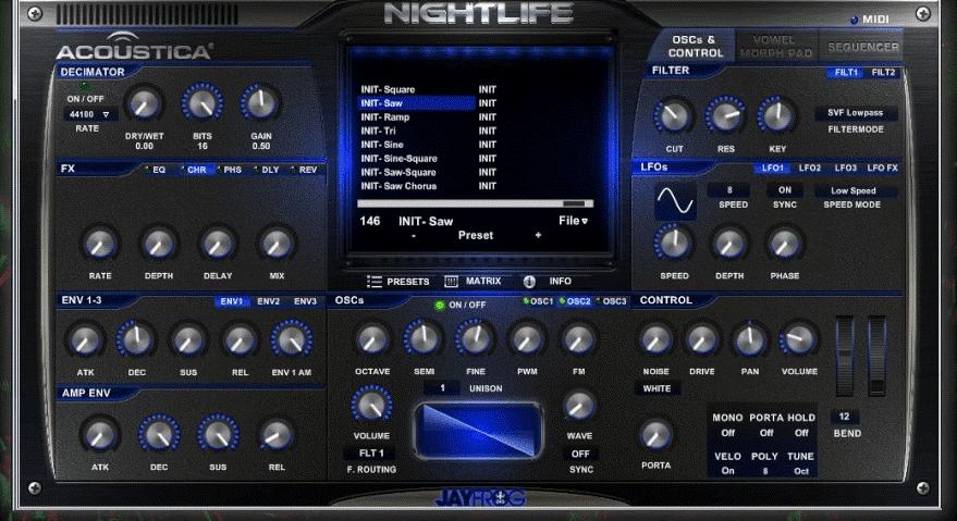 Acoustica Nightlife VST
