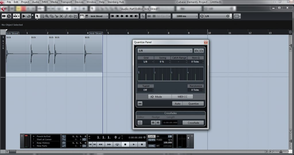 How to quantize audio in steinberg Cubase   Creating Tracks