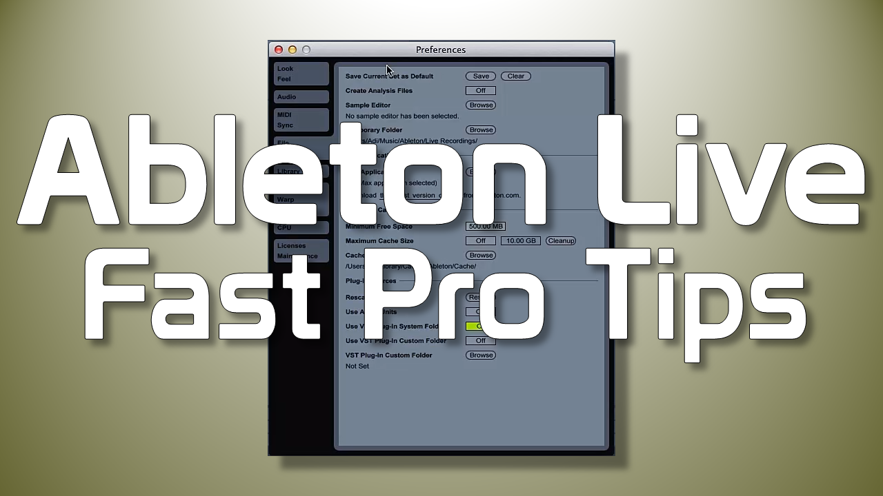 Ableton Live Fast Pro Tips